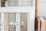 Reclaimed Wood Blue Love You More Sign -May Restock