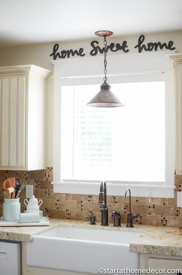 Home Sweet Home Typography Word Cutout | MDF word sign | Typography | Start at Home Decor