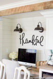 Handwritten Thankful MDF word cutout