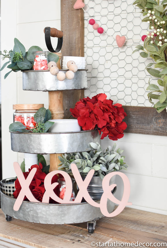 XOXO Handwritten Valentines Day Cutout | Handwritten MDF Cutout