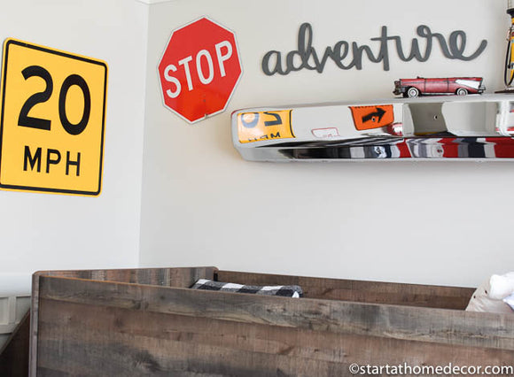 Adventure Typography Word Cutout | MDF word sign | Typography | Start at Home Decor