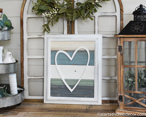 Reclaimed Wood Heart Sign