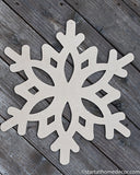 Snowflake  MDF Cutout | Typography sign | Start at Home | Door Hanger | Fall