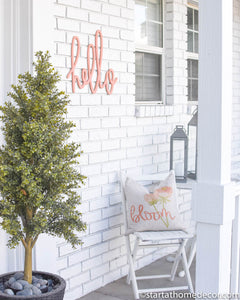 Hello Typography Word Cutout | MDF word sign | Typography | Start at Home Decor