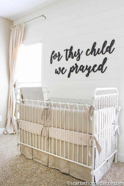 For This Child We Prayed MDF Saying Cutout | Typography sign | Start at Home Decor