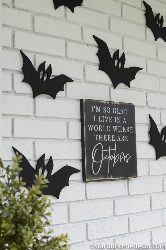 Bat Cutout | MDF word sign  | Start at Home Decor