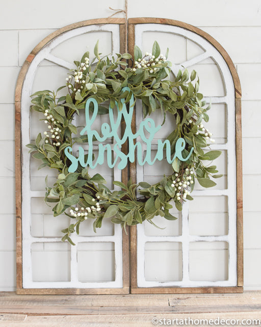 Hello Sunshine Handwritten Cutout | Handwritten MDF Cutout