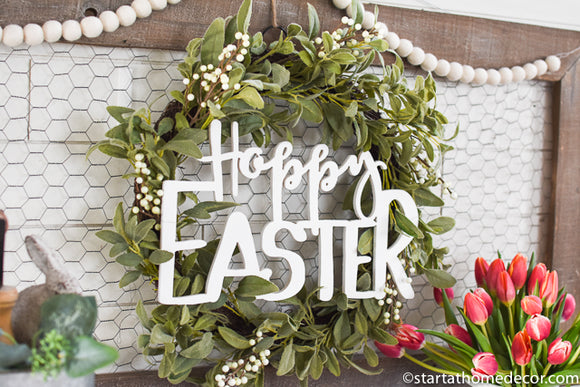 Hoppy Easter Cutout | Handwritten MDF Cutout