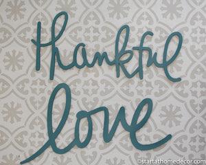 Grab Bag: Turquoise Love and Thankful