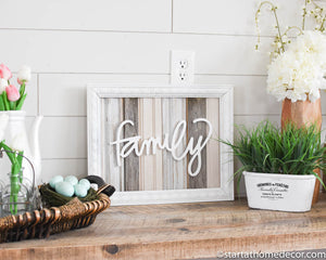 Reclaimed Wood Neutral Family Sign