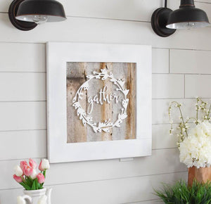 Reclaimed Wood Gather Sign