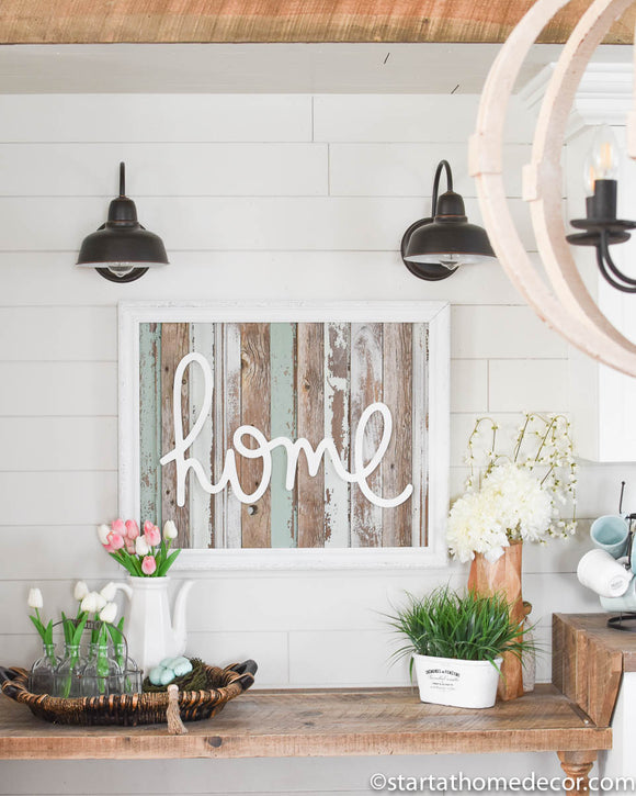 Large Reclaimed Wood home Sign
