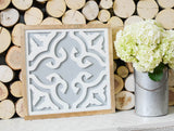 SALE!!!  Floral Tile Inspired Sign
