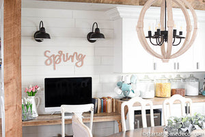 Handwritten Spring MDF word cutout