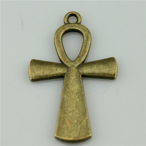 Ankh cross Charms 37*23mm Antique Bronze plated DIY Retro Jewelry Braclet Necklace