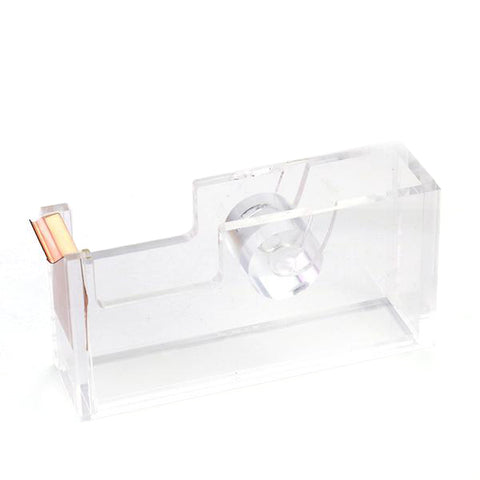 Acrylic and Rose Gold Tape Dispenser - Cocus Pocus