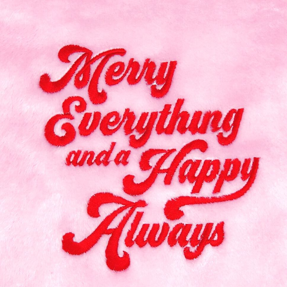 Merry Everything and Happy Always Fleece Blanket - Cocus Pocus