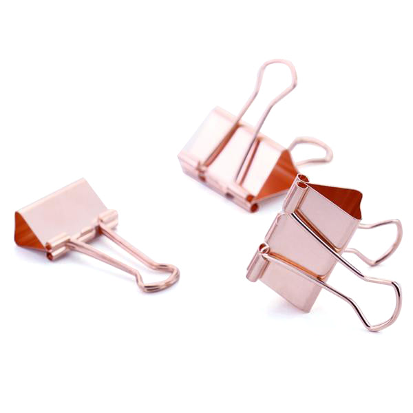Large Rose Gold Binder Clip (15 pieces) - Cocus Pocus