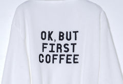 OK, BUT FIRST COFFEE Plush Robe - Cocus Pocus