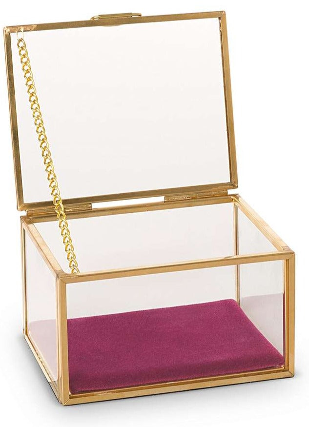 Medium Glass Jewelry Box - Cocus Pocus