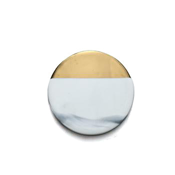 Gilded edge Ceramic Coaster - Cocus Pocus
