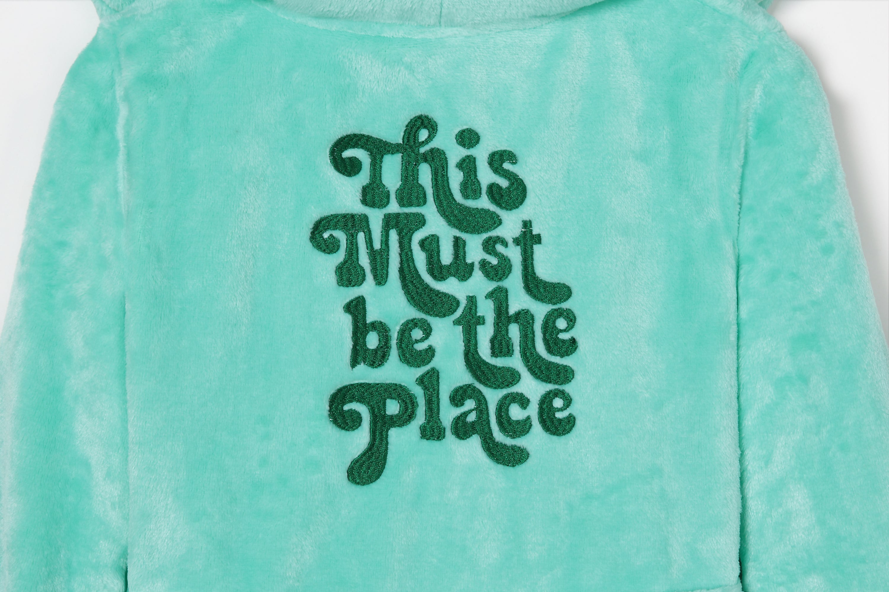 This Must Be The Place Kids Plush Bathobe - Cocus Pocus