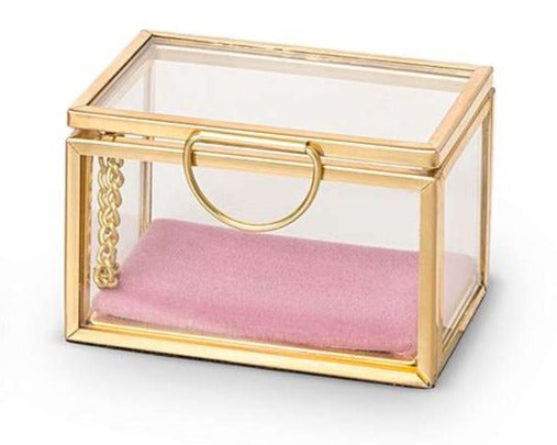 Small Glass Jewelry Box - Cocus Pocus