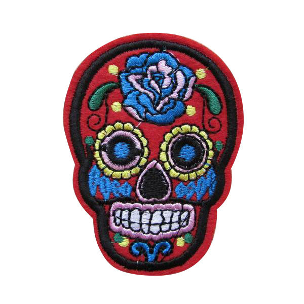 Sugar Skull Iron On Patch - Cocus Pocus