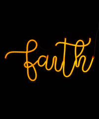 Faith Neon Wall Sign - Cocus Pocus