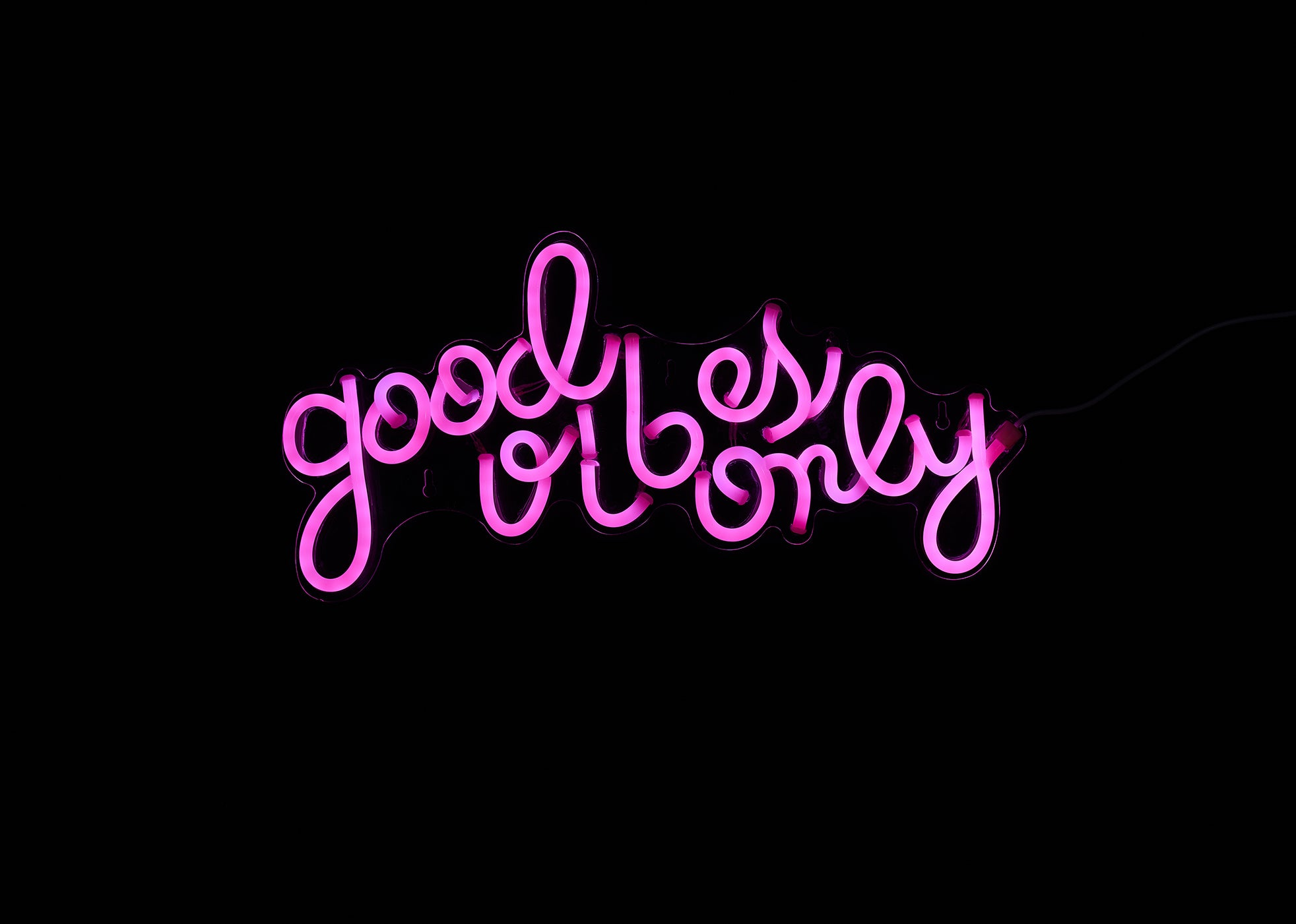 Good Vibes Only LED Neon Wall Sign - Cocus Pocus