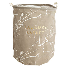 Marble Print Laundry Basket