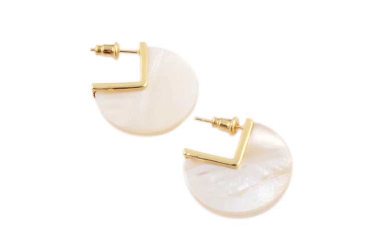 Shell Disc Earrings - Cocus Pocus