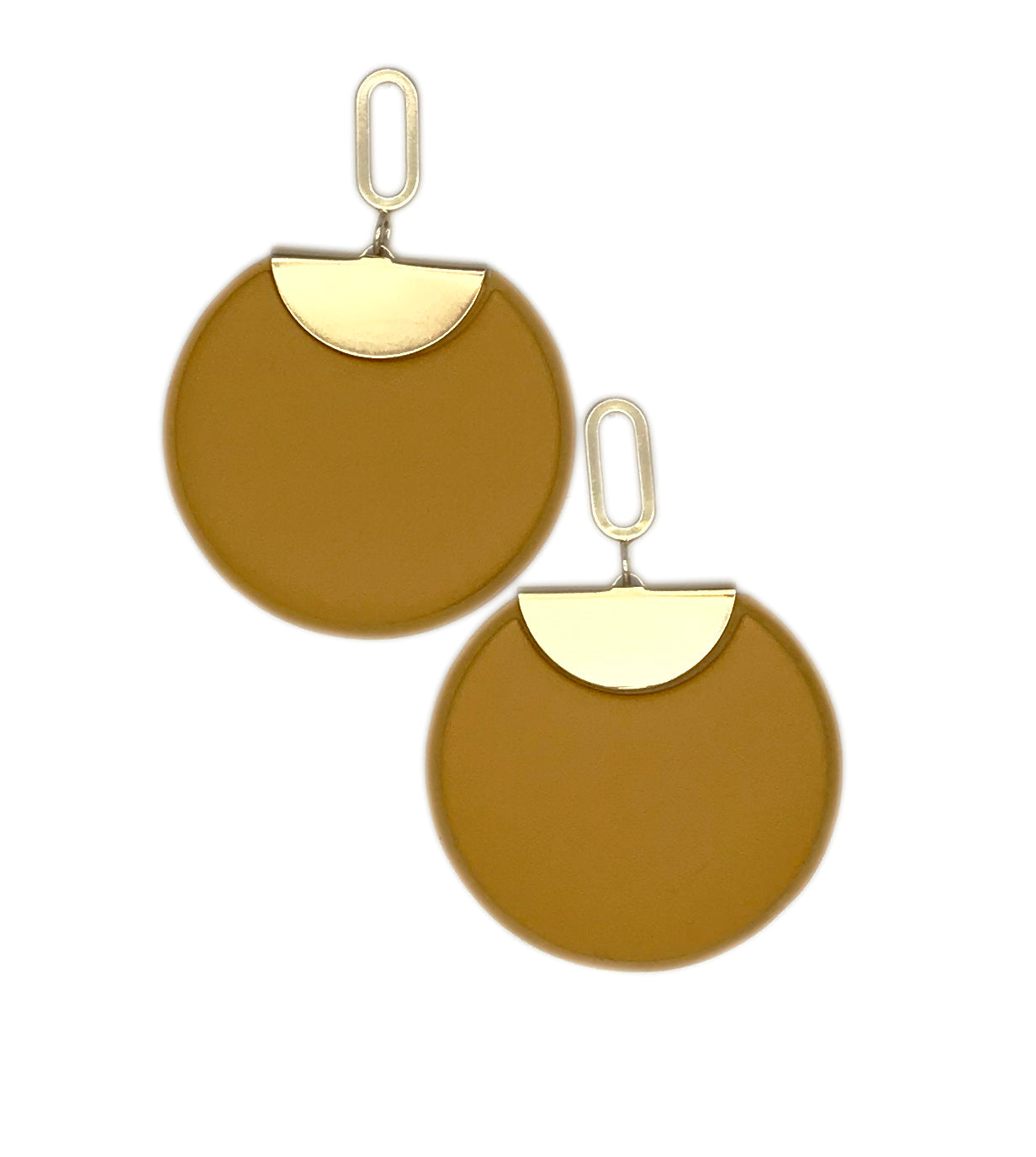 Oversized Disc Earrings - Cocus Pocus