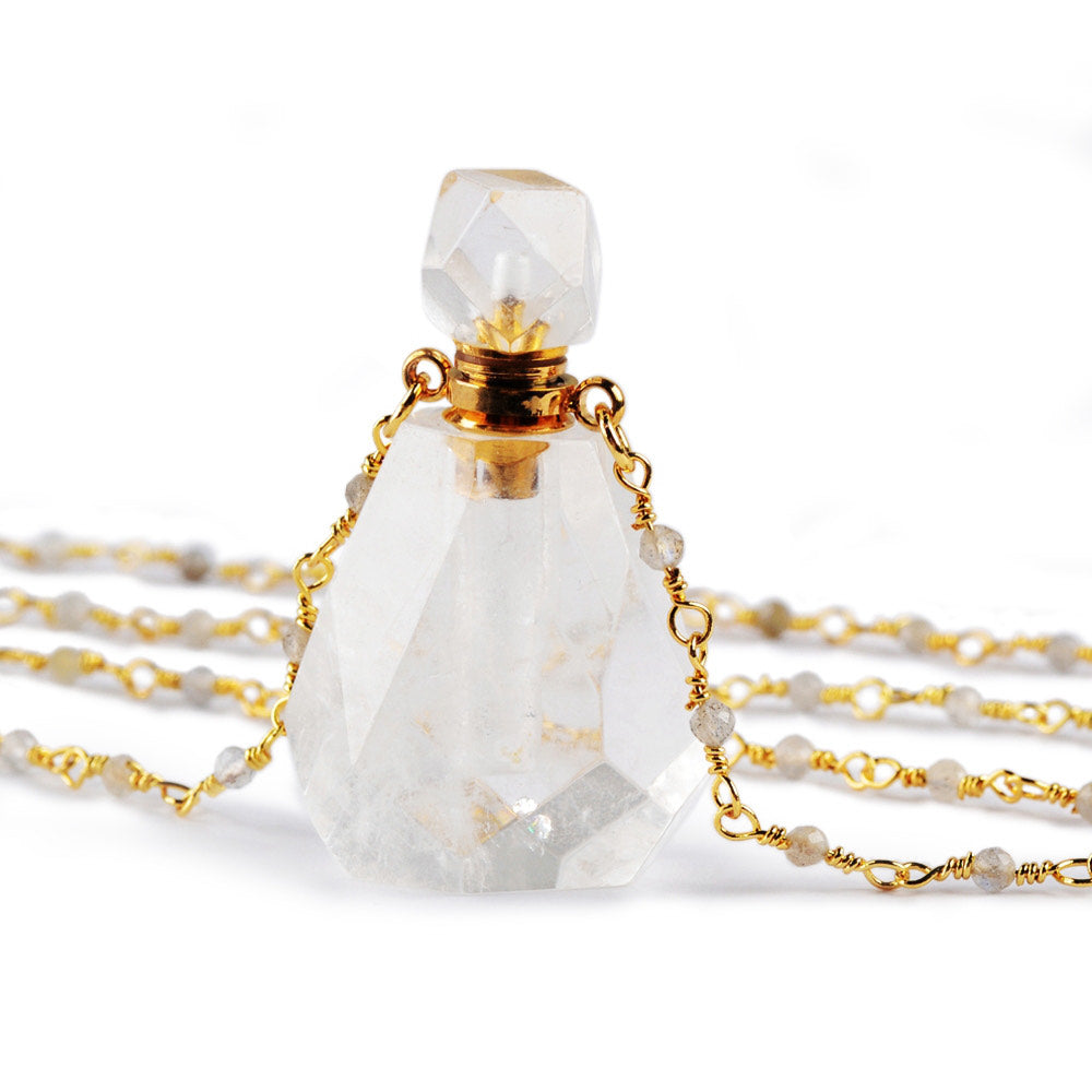 Quartz Perfume Bottle Necklace - Cocus Pocus