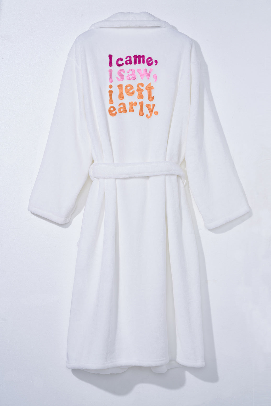 I Came, I Saw, I Left Early Plush Robe - Cocus Pocus