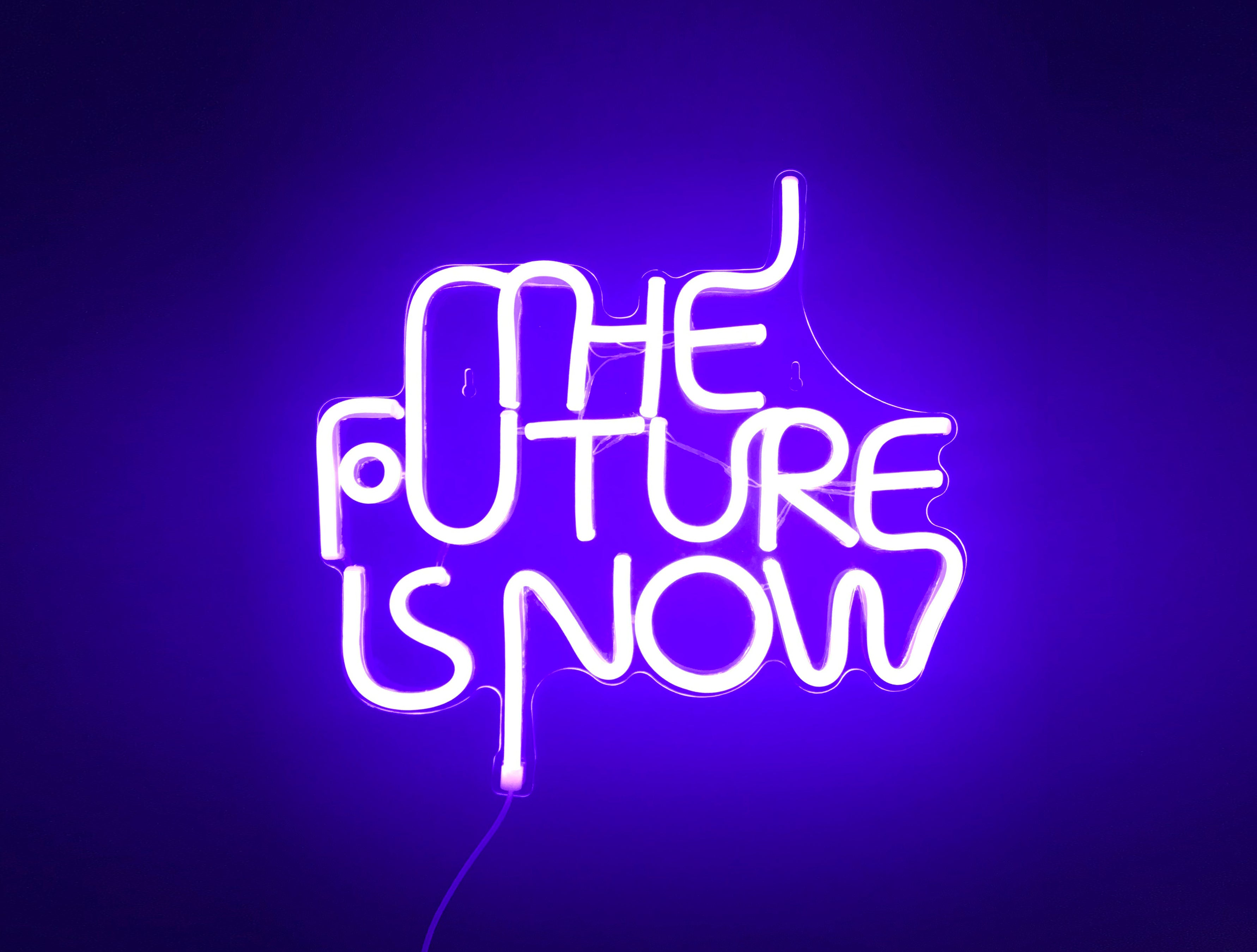 The Future is Now LED Neon Wall Sign - Cocus Pocus
