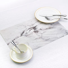 Set of Two Waterproof Marble Placemats
