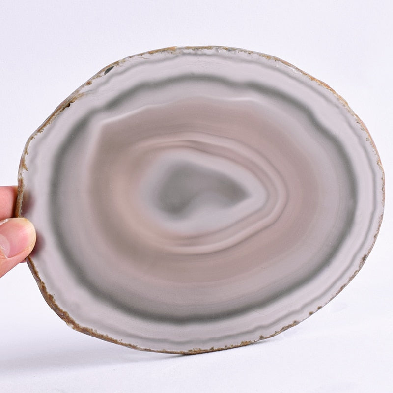Natural Agate Slice Wine Salver/Jewelry Tray - Cocus Pocus