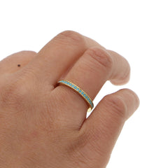 Turquoise and Gold Stacking Ring - Cocus Pocus