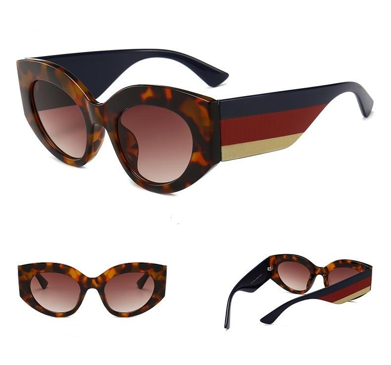 Cat Eye Style Rainbow Frame Sunglasses