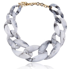 Resin Chain Link Necklace - Cocus Pocus