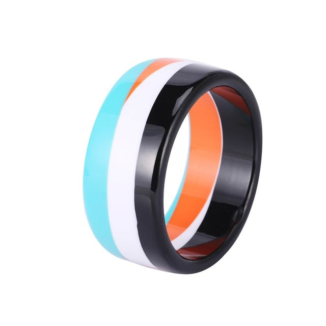 Colorful Resin Bangle - Cocus Pocus