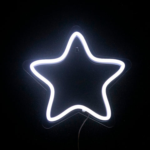 White LED Neon Star Sign - Cocus Pocus