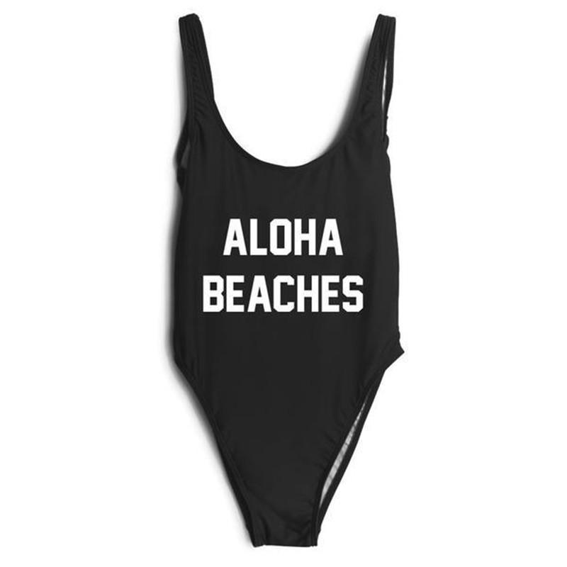 ALOHA BEACHES  One Piece Swimsuit - Cocus Pocus