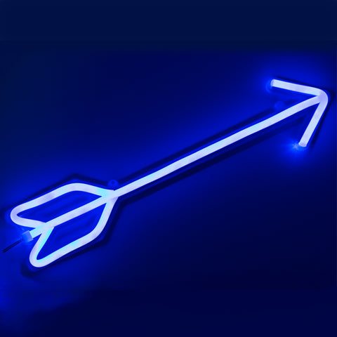 Blue Arrow Led Neon Sign - Cocus Pocus