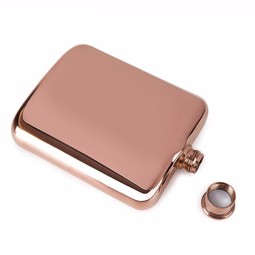 Rose Gold 6 oz Stainless Steel Flask - Cocus Pocus