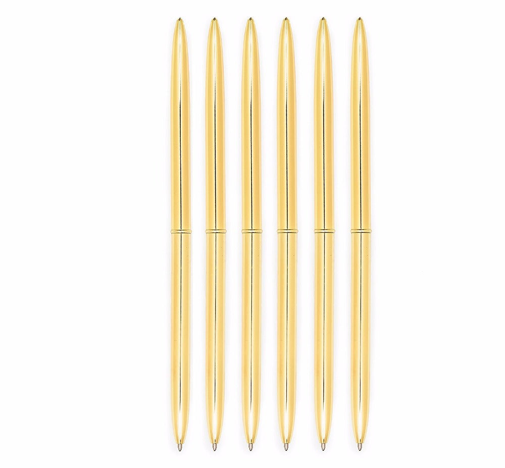 Gold Pen, set of 6 - Cocus Pocus