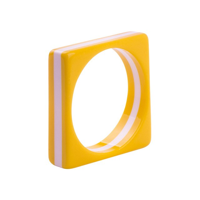 Square Resin Bangle - Cocus Pocus