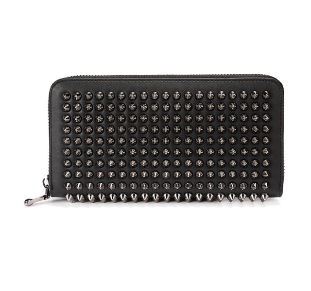 Leather Riveted Wallet - Cocus Pocus