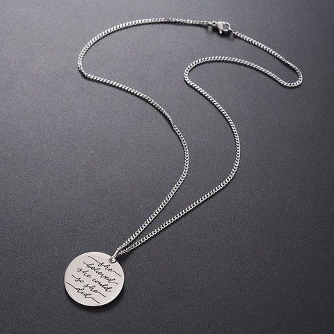 She Believed She Could So She Did Pendant Necklace - Cocus Pocus